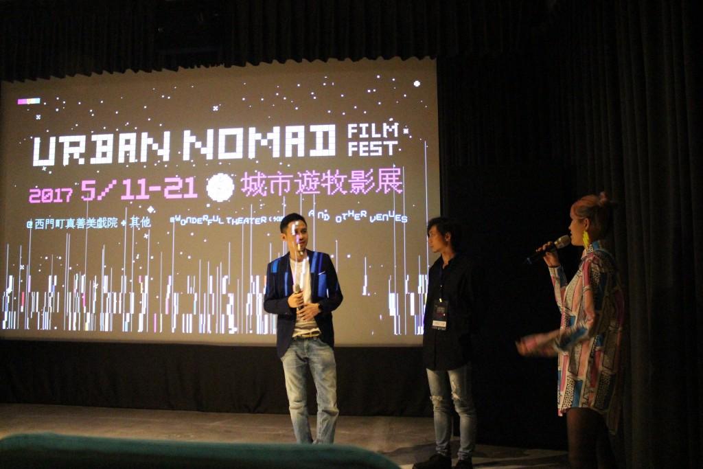 (左起)《不倒翁的誘惑》導演馬修羅,《兔》導演劉宇晧